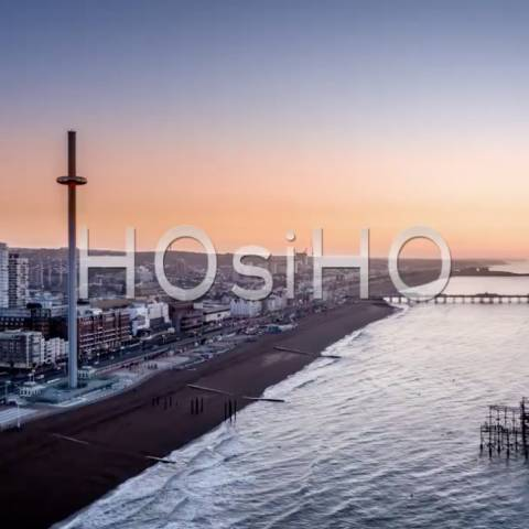 Aerial view of Brighton, filmed by drone, United-Kingdom, on HOsiHO.com