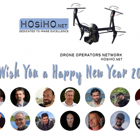 Best Wishes for 2019 from HOsiHO Drone Network Uav Pilots