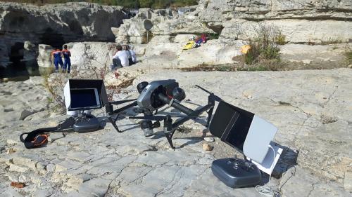 Drone Inspire 2 film Facteur Cheval Fechner - lores
