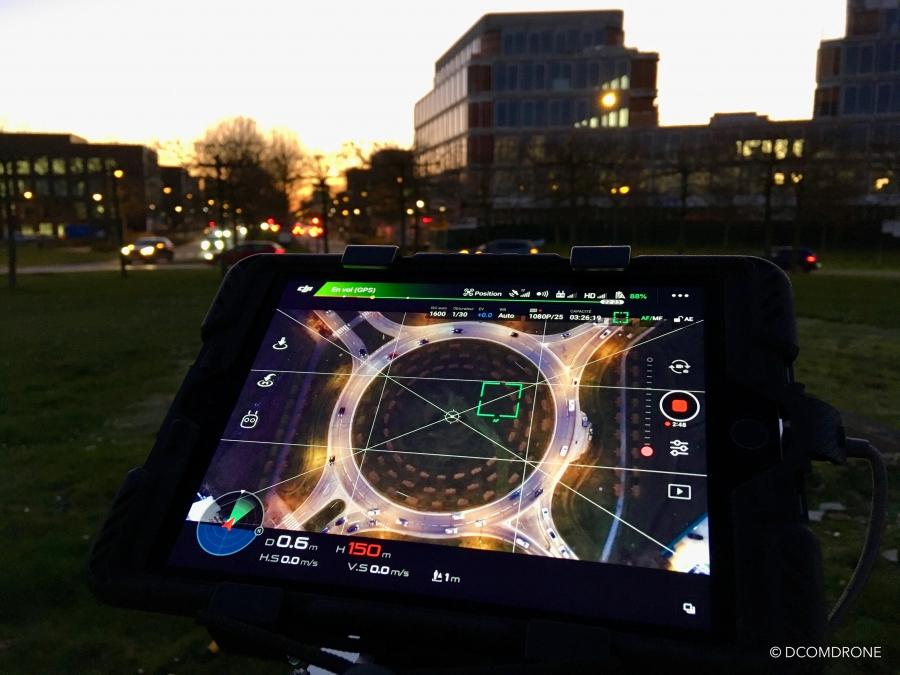 Mission de comptage routier par drone de nuit DCOMDRONR