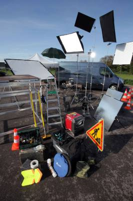Our technical truck and equipment for audio-visual shootings