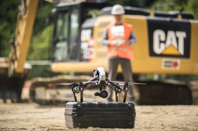 Site monitoring with photo and video by drone - DJI Inspire 1 Pro - Take-off