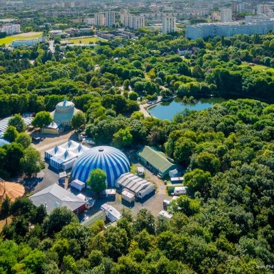 Photo by drone - Parc des Chanteraines - Villeneuve-la-Garenne - Department Haut-de-Seine - Paris region