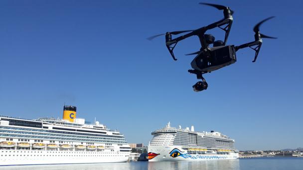 Drone en vol pour du Live Streaming vidéo