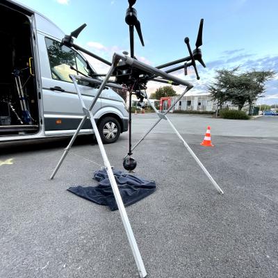 Notre drone S900 DJI S3 en plein vol avec la Nacelle stabilisée VR 360