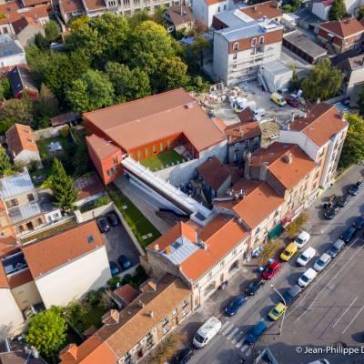 Photo par drone - Conservatoire de musique Nina Simone - Romainville - Département de la Seine-Saint-Denis